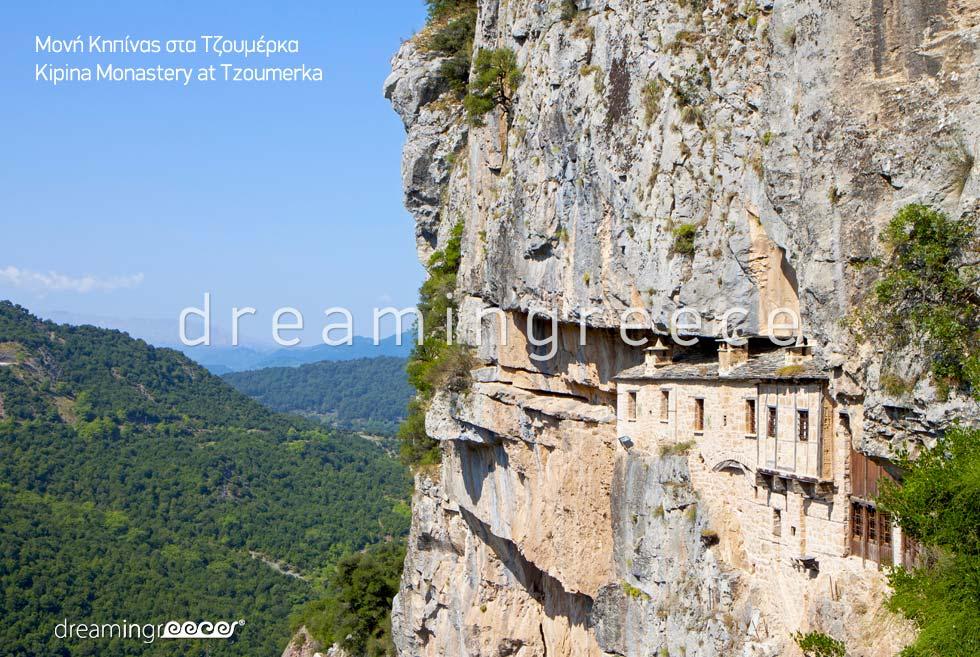 Monastery at Tzoumerka in Epirus. Visit Greece