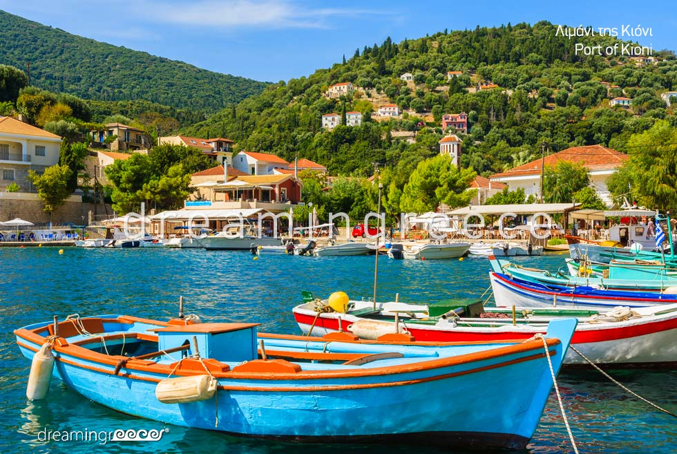 Visit Ithaca island Port of Kioni Greece Ionian Islands
