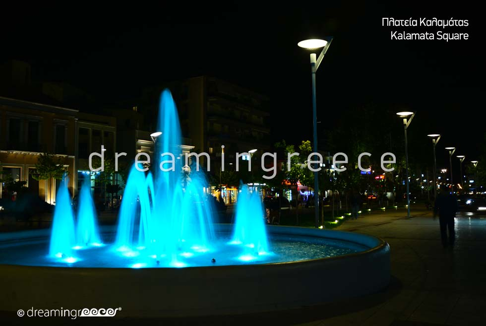 Kalamata Square Messinia Peloponnese Travel Guide of Greece