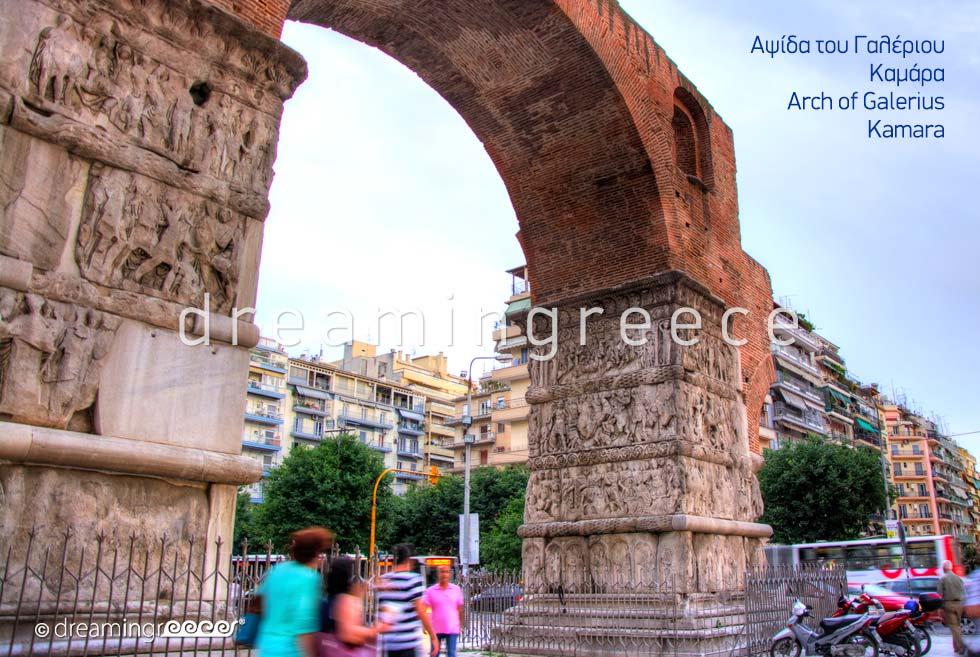 Arch of Galeruis Kamara Thessaloniki. Visit Greece