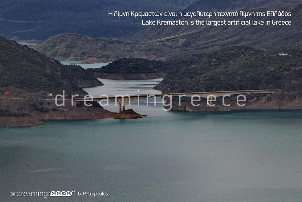 Explore Lake Kremaston Karpenisi Greece