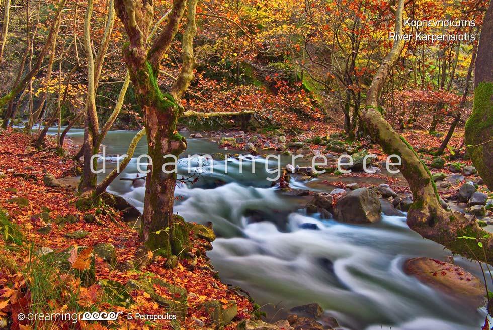 Karpenisiotis River in Karpenisi Greece