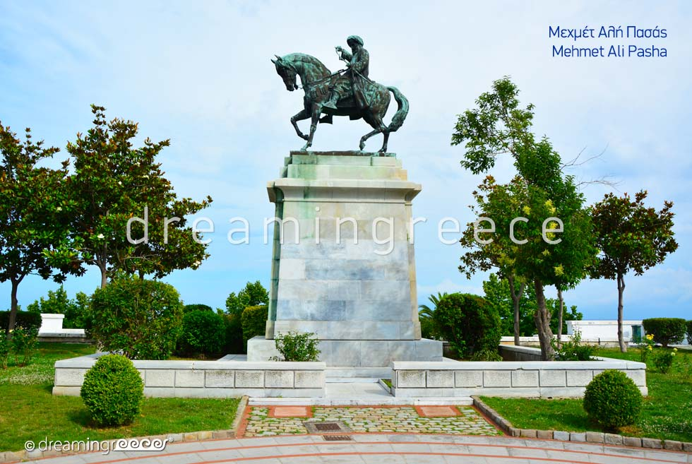 Mehmet Ali Pasha Statue in Kavala Eastern Macedonia and Thrace Greece