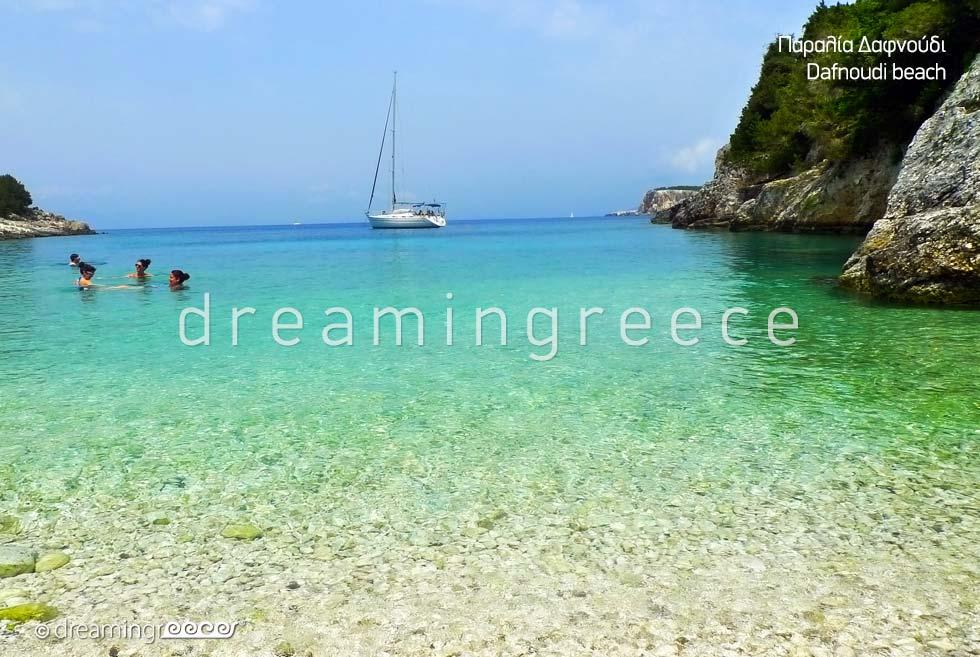 Dafnoudi beach in Kefalonia island Greece