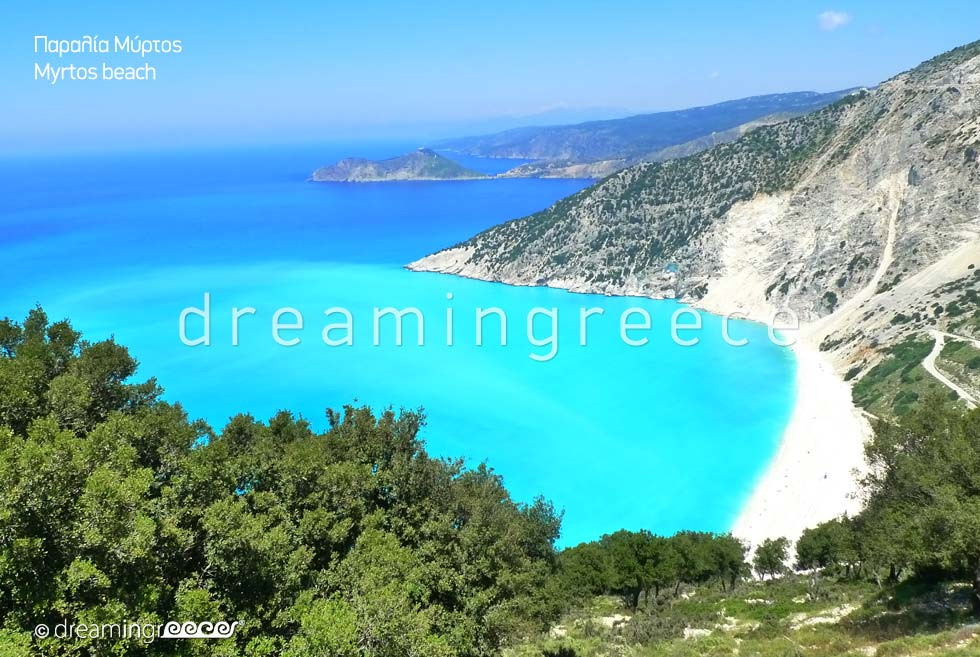 Myrtos beach in Kefalonia island Ionian islands