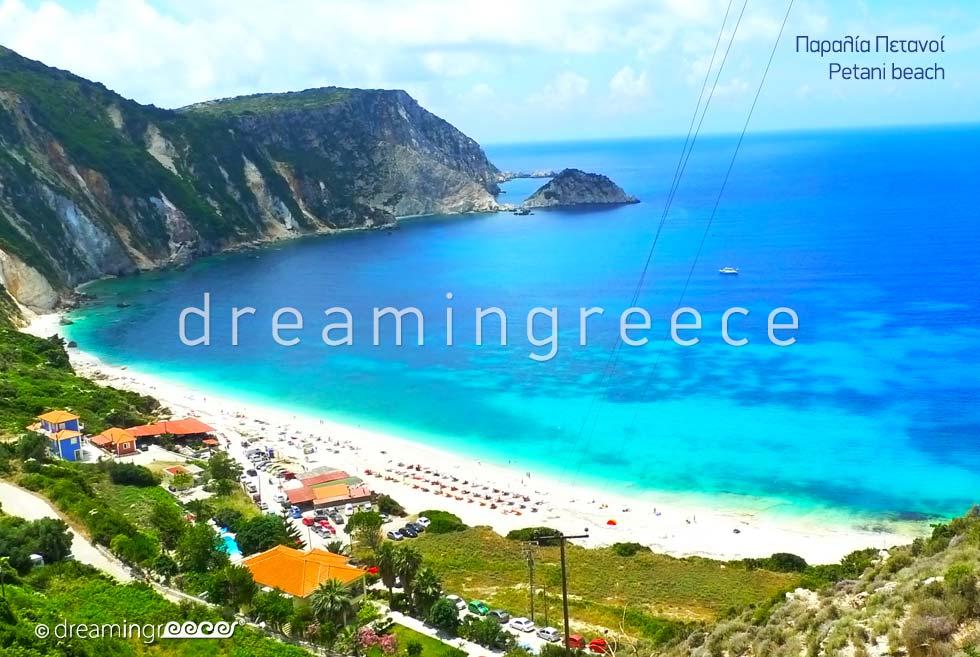 Petani beach in Kefalonia island Greece