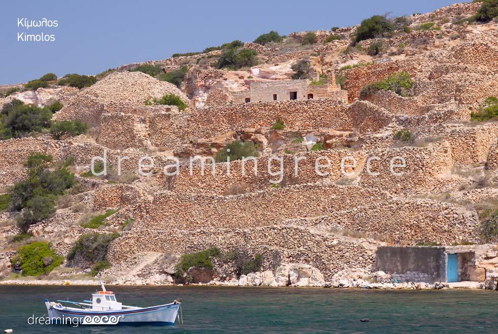 Tourist Guide of Kimolos island Cyclades Greece