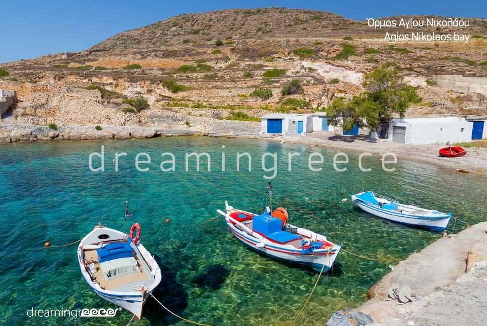 Agios Nikolaos Bay. Vacations in Kimolos island Cyclades Greece