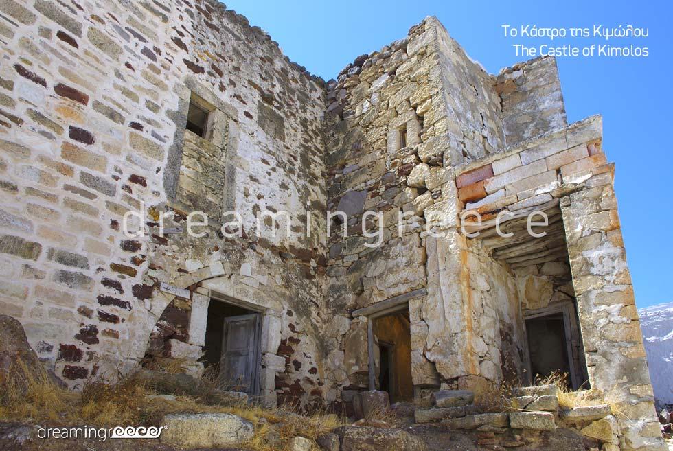 Castle of Kimolos island Cyclades. Summer Holidays in Greece