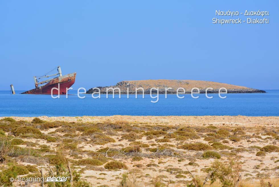 Shipwreck at Diakofti Port Kythira Island Greece