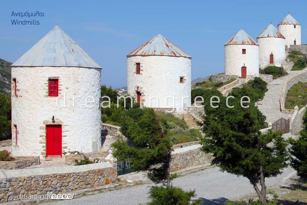 Visit the Windmills Leros island Dodecanese Greece