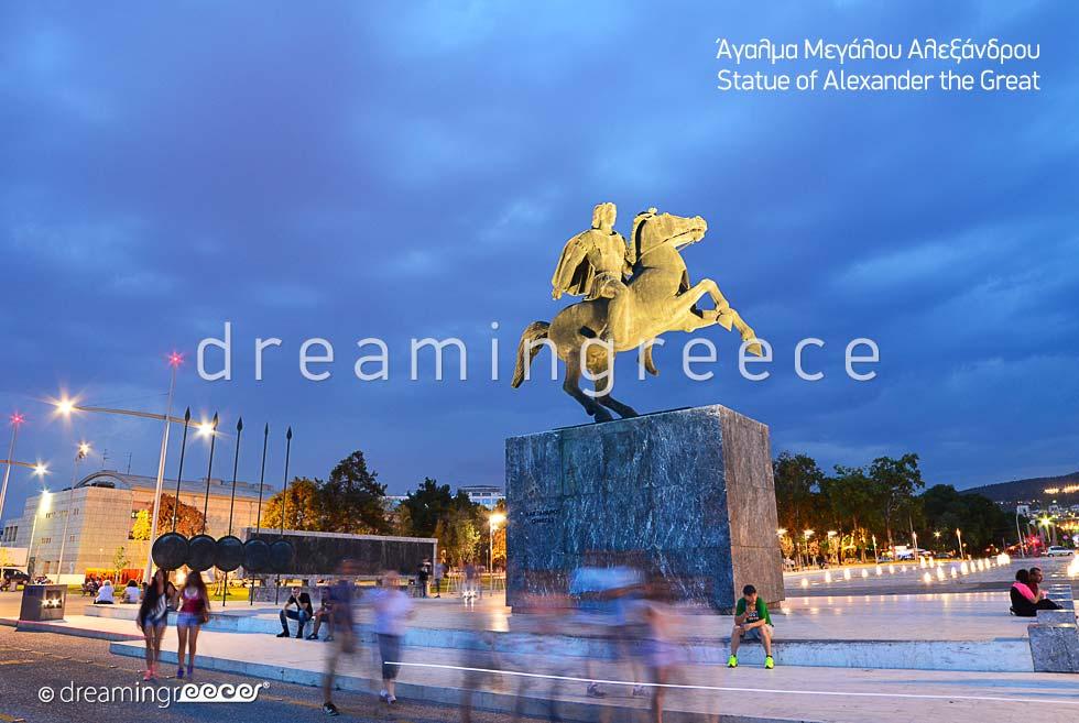 Alexander the Great Thessaloniki. Tourist Guide Greece