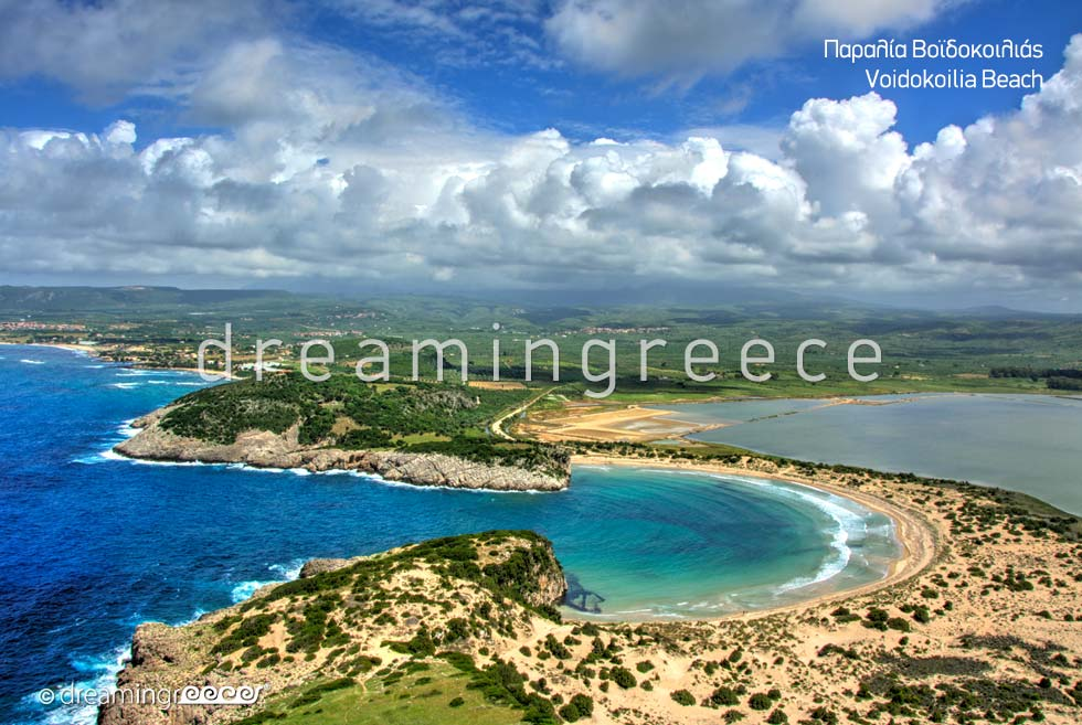 Voidokoilia beach in Messinia Greece