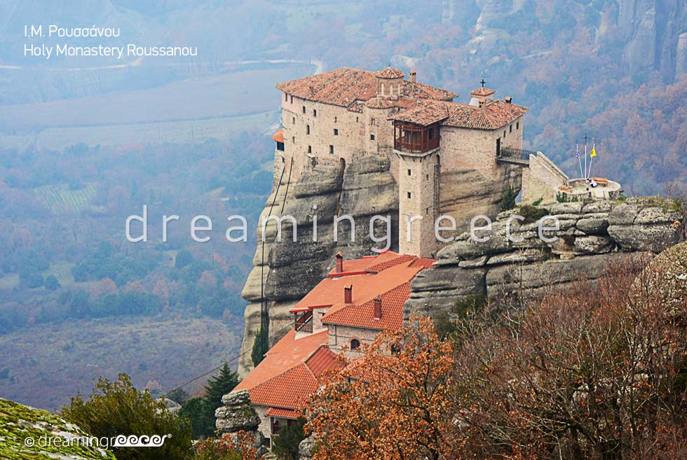 Holy Monastery Roussanou in Meteora Greece