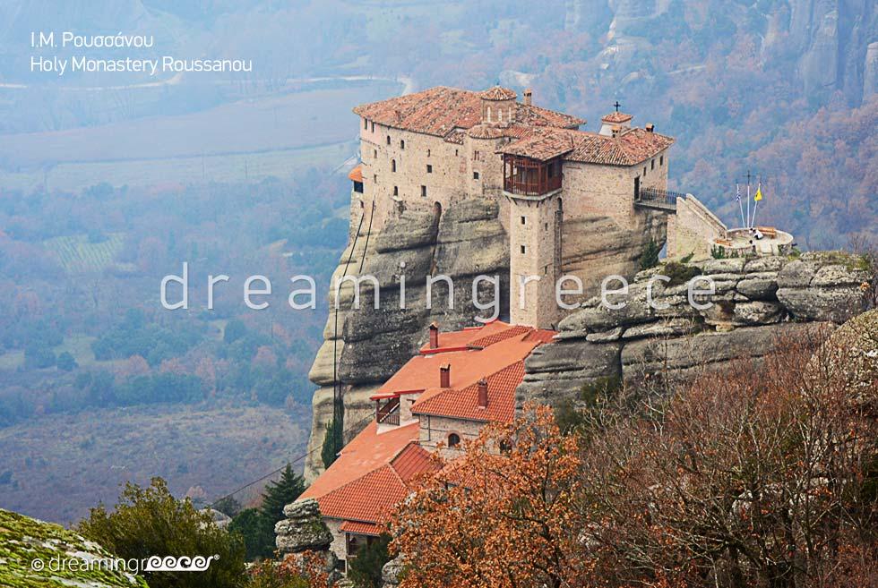 Holy Monastery Roussanou in Meteora Greece