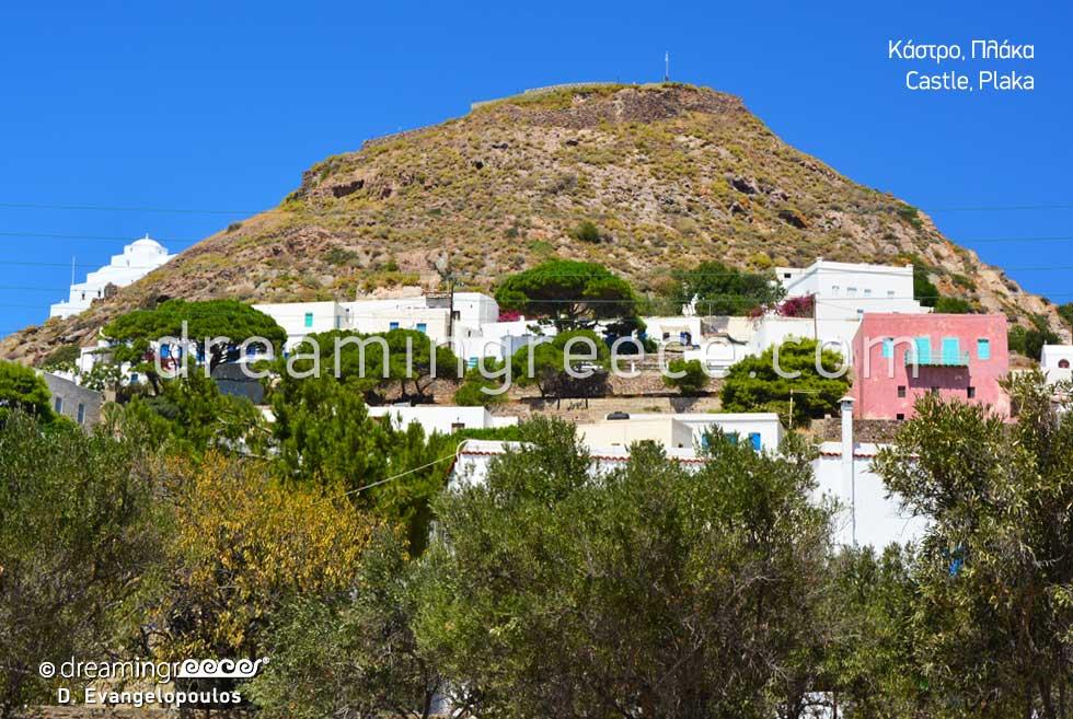Castle Plaka Milos island. Discover Greece