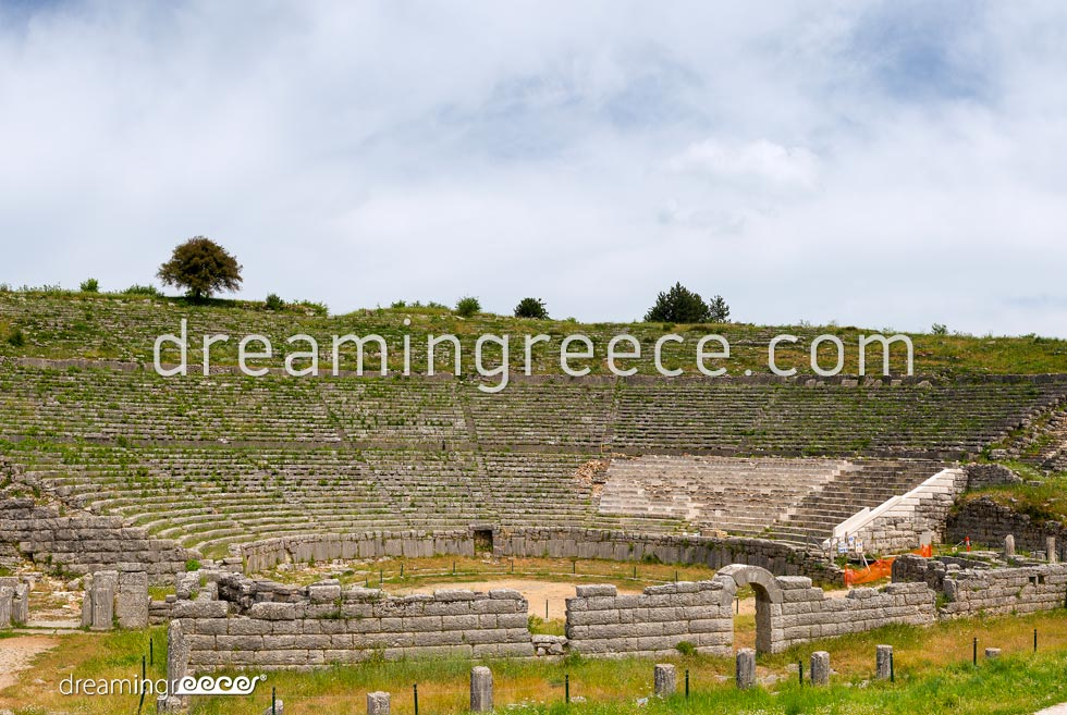 Archaeological Site of Dodona in Epirus. Travel Guide of Greece.