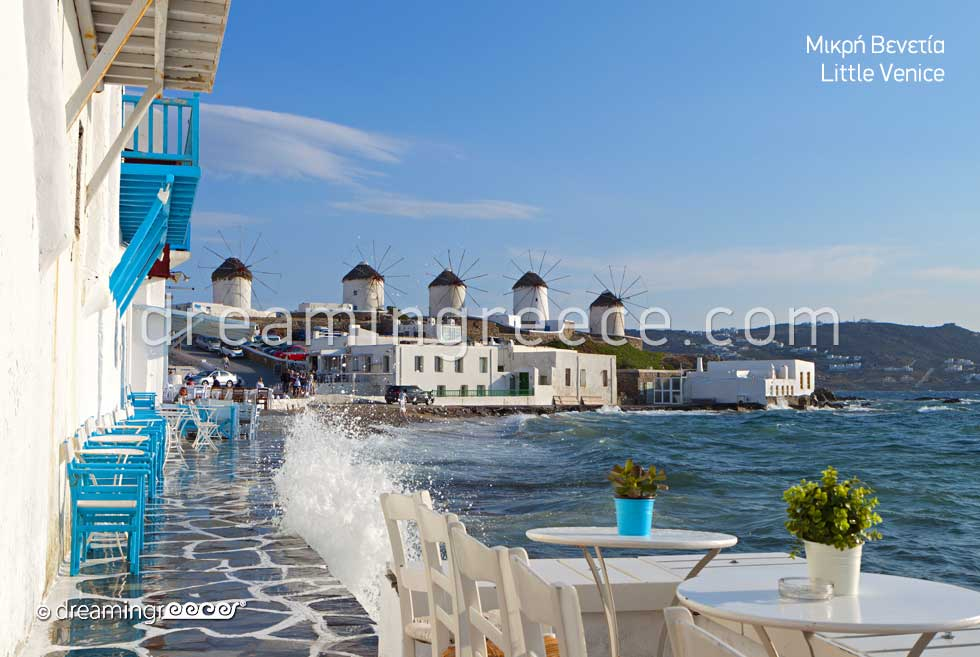 Holidays in Mykonos. Little Venice Mykonos Greece