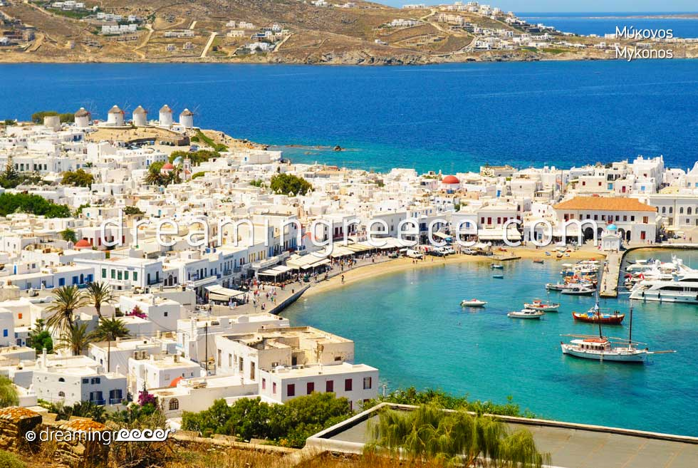 Travel Guide of Mykonos island town Greece