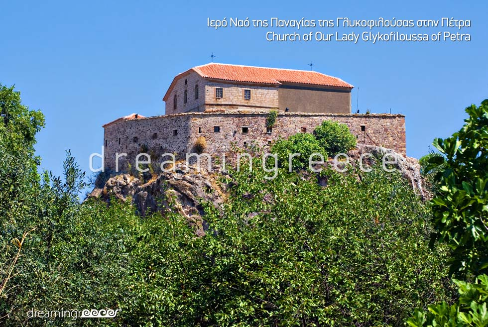 Church Lady Glykofiloussa of Petra Lesvos Island Greece