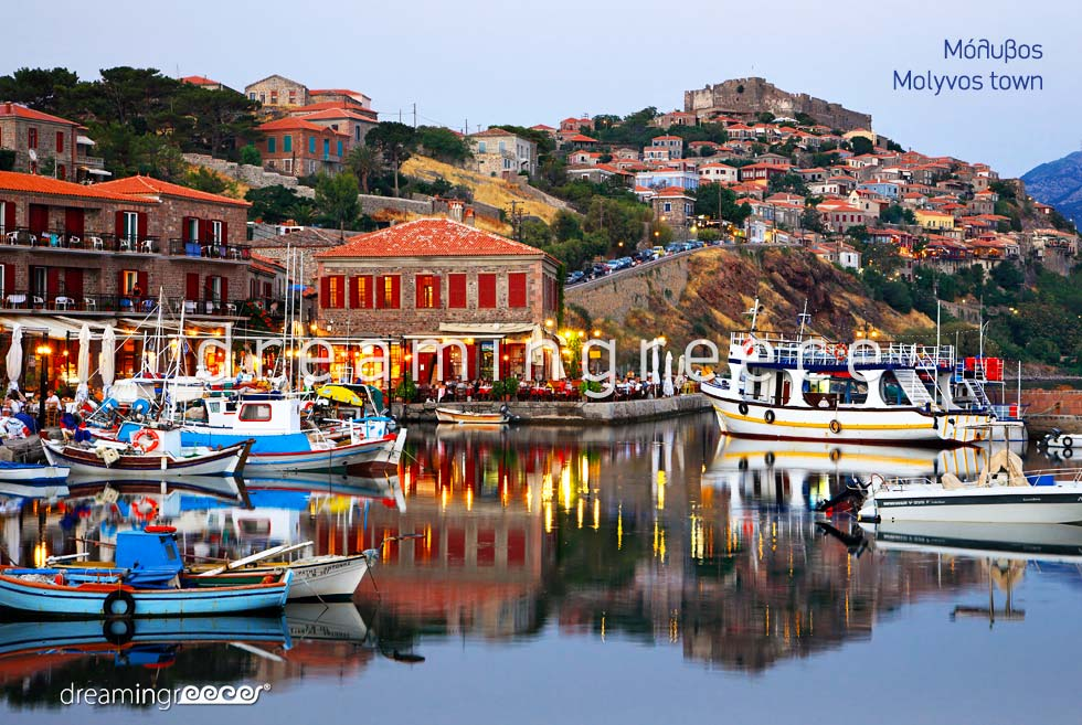 Vacations in Molyvos town Lesvos Island Greece