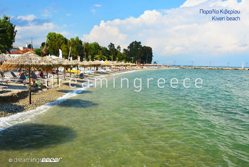 Kiveri beach. Beaches in Nafplio Greece.