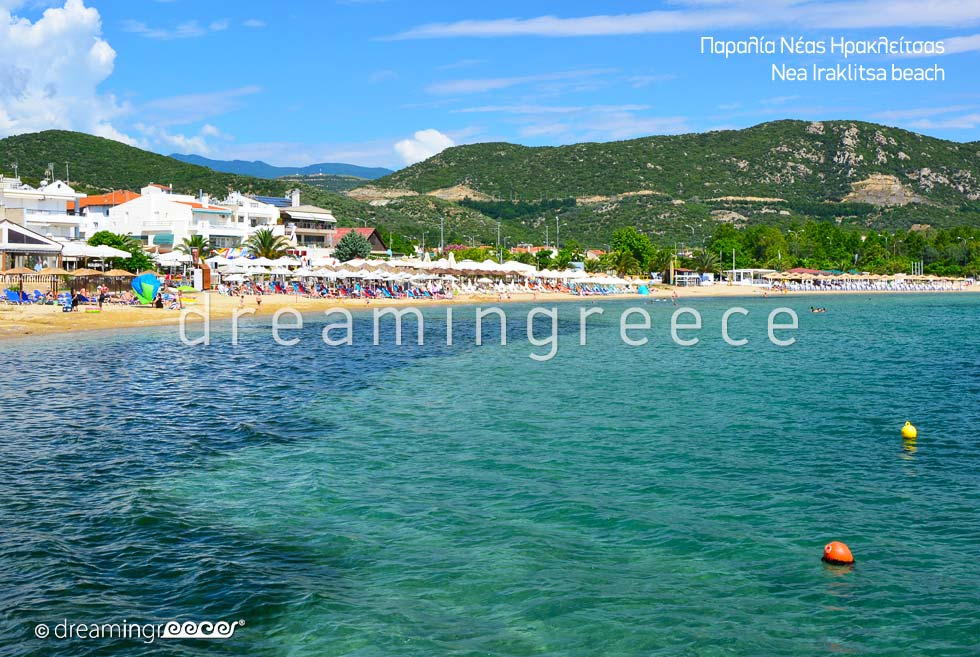 Nea Iraklitsa beach in Kavala Greece