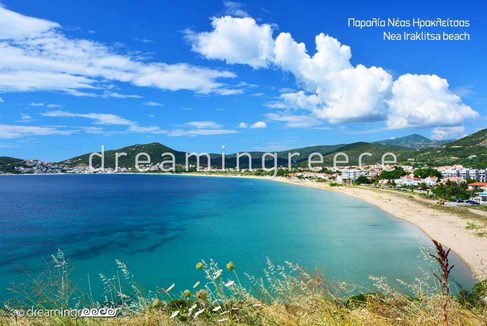 Nea Iraklitsa beach in Kavala Greece