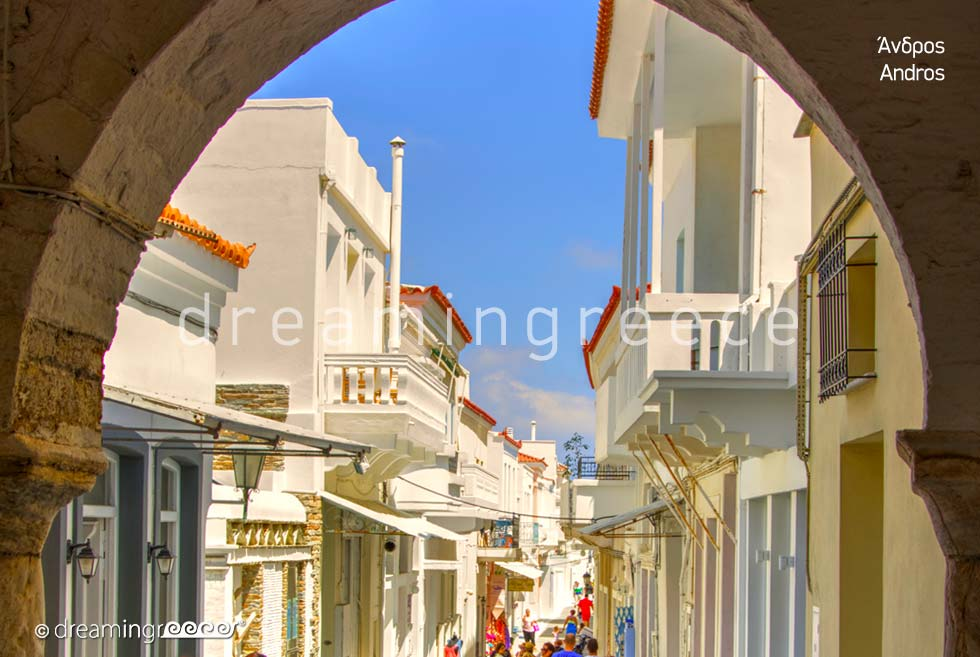 Visit Andros island Greece. Cyclades islands Tourist Guide