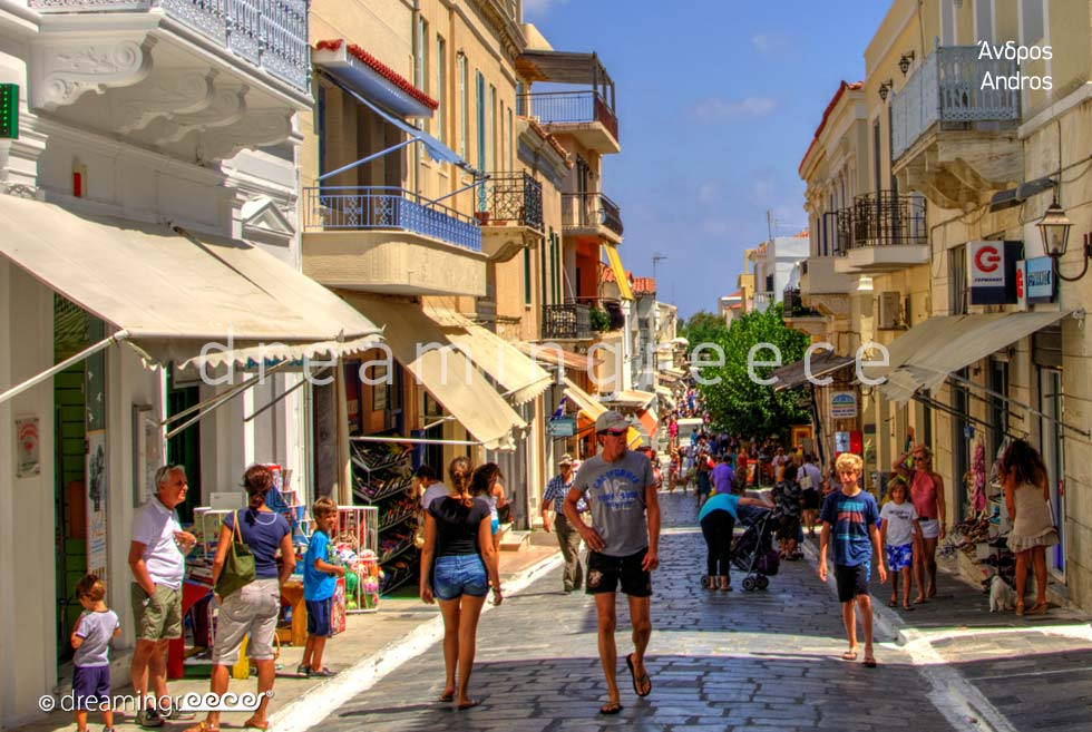 Vacations in Andros island Greece Cyclades islands