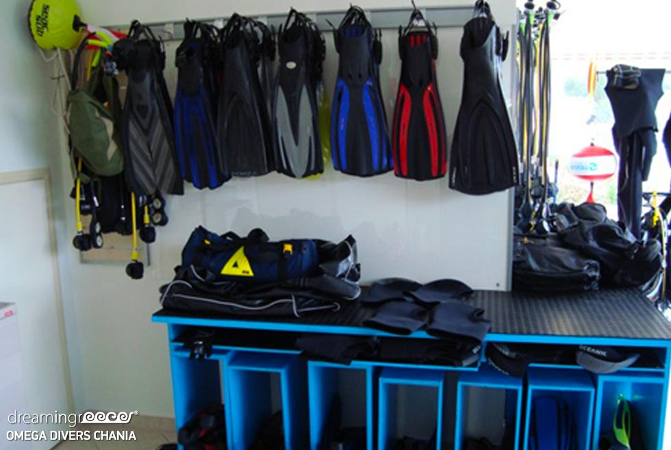 Omega Divers Diving in Chania, Scuba Diving in Greece