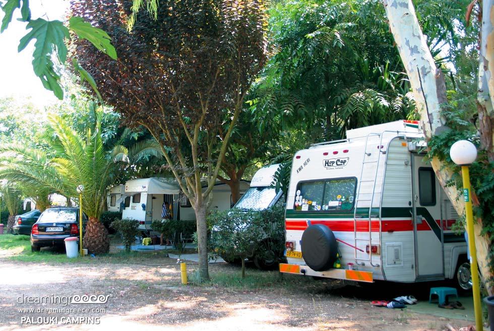 Caravan Camping Palouki in Amaliada Camping in Greece. Camping Peloponnese.