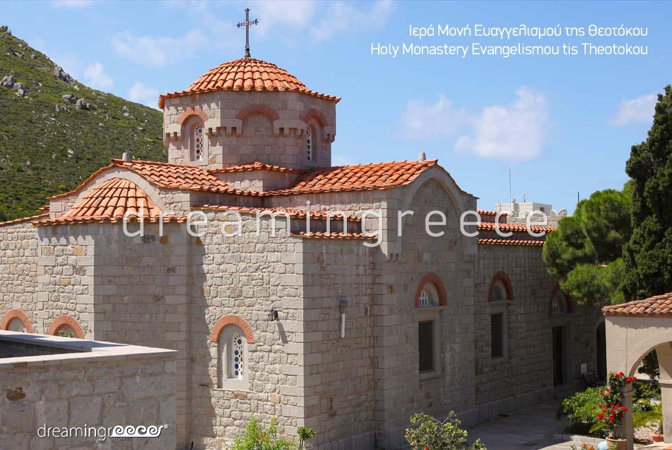Visit the Monastery Evangelismou Theotokou Patmos island Dodecanese Greece
