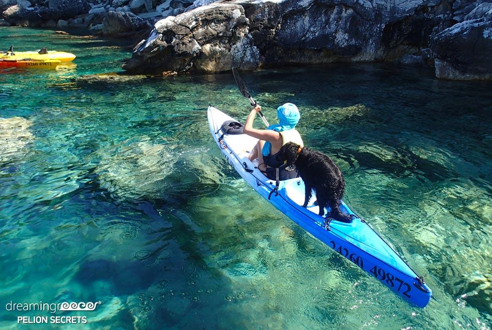 Sea Kayaking Pelion Secrets. Summer Holidays in Greece.