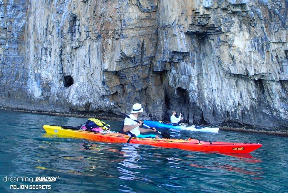 Sea Kayaking Pelion Secrets in Pelio. Visit Greece. Sea Kayak Greece