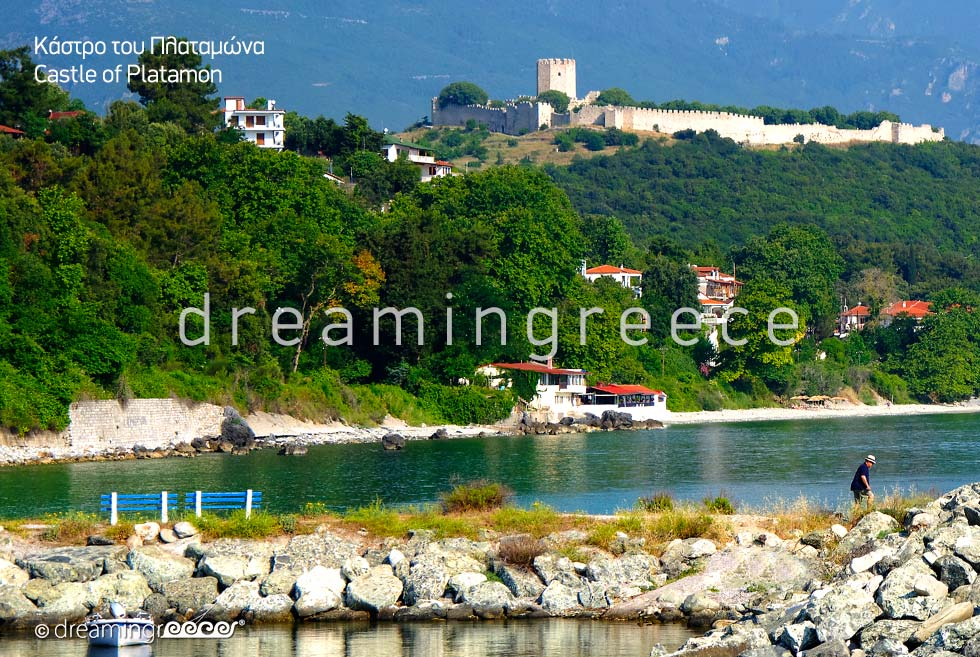 Travel guide of Greece. Castle of Platamon Pieria Greece