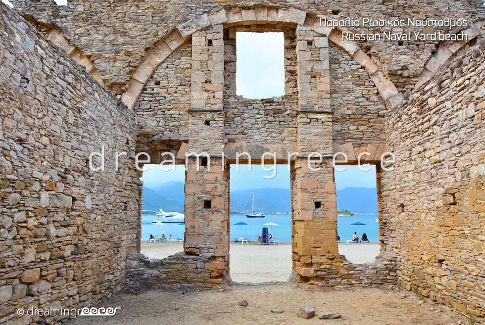 Explore Poros island Greece - Russian Naval Yard beach