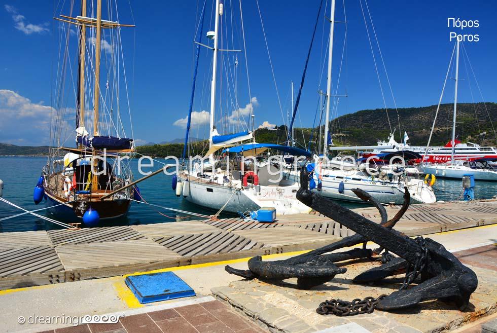 Poros island Greece. Greek islands. Argosaronic islands