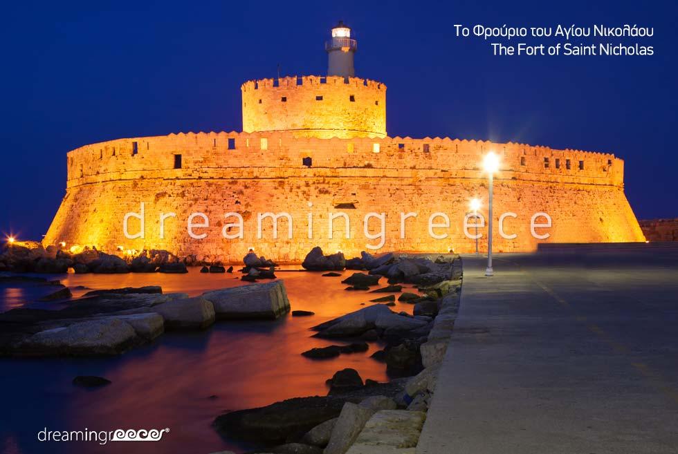 Fort of Saint Nicholas Rhodes island Dodecanese Greece Travel