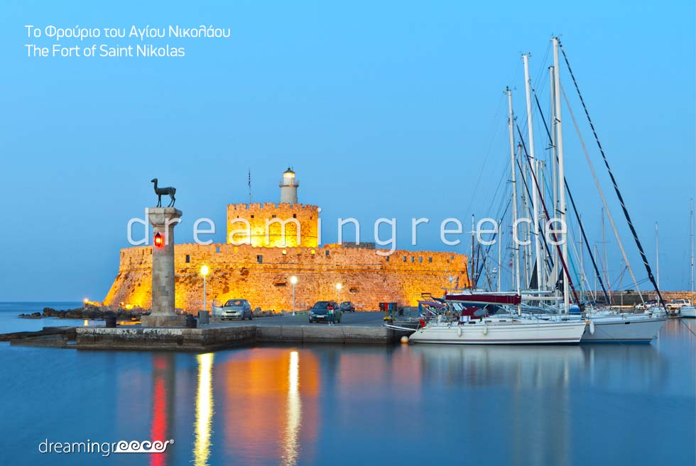 Fort of Saint Nicholas Rhodes island Dodecanese Greece. Vacations Greek islands