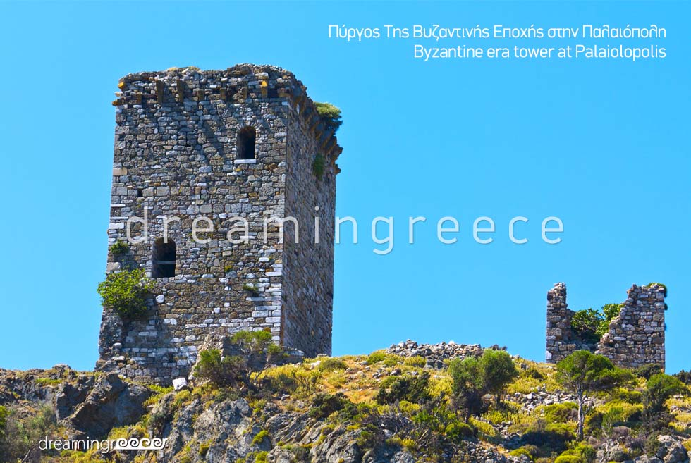 Visit Byzantine era tower of Palaiodopolis Samothrace island Greece