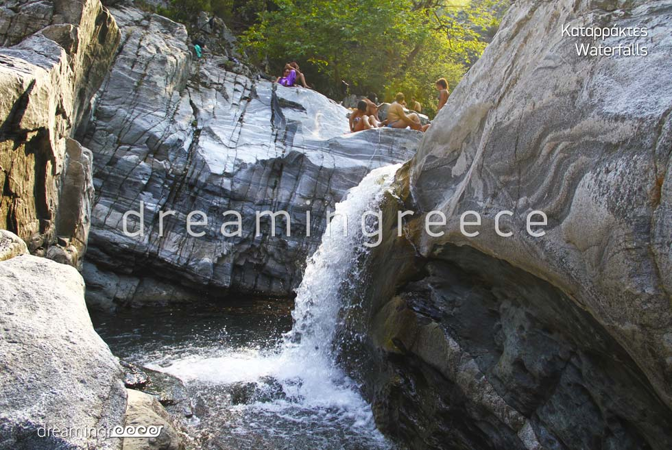 Vacations in Waterfalls Samothrace island Northeastern Aegean Islands Greece