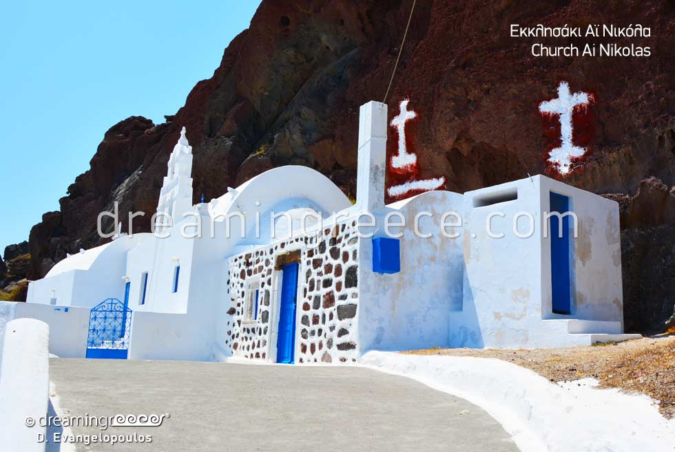 Church Ai Nikolas Santorini. Travel to Greece