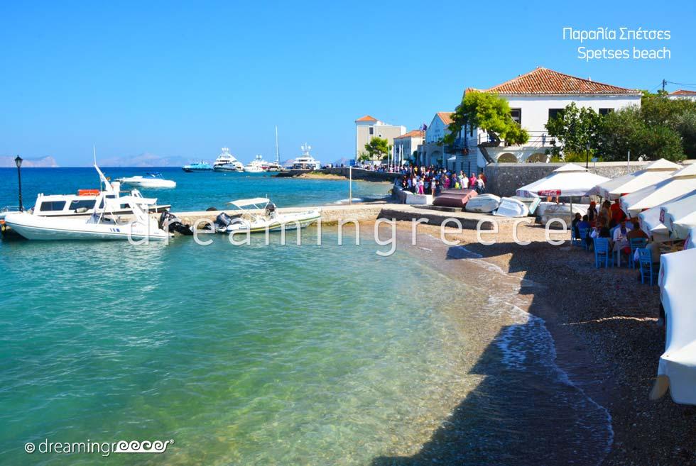 Vacations Greek islands. Spetses island Greek. Holidays Greece.
