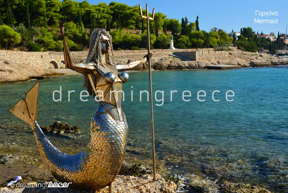 Mermaid Spetses island. Discover Greece Argosaronic islands