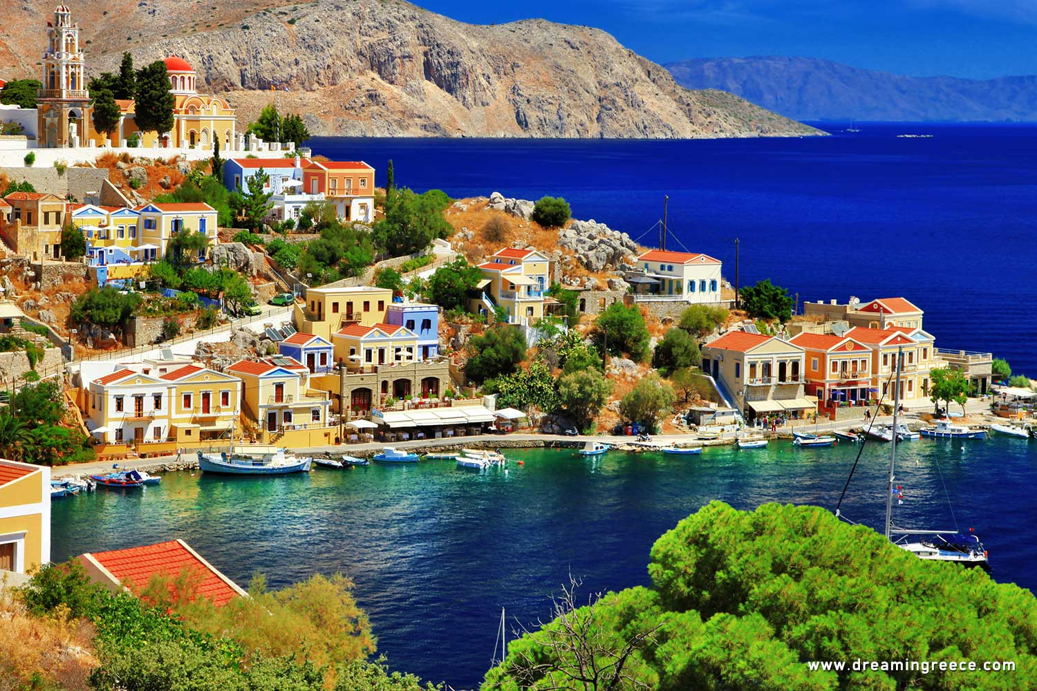 Holidays in Symi island Dodecanese Islands Greece