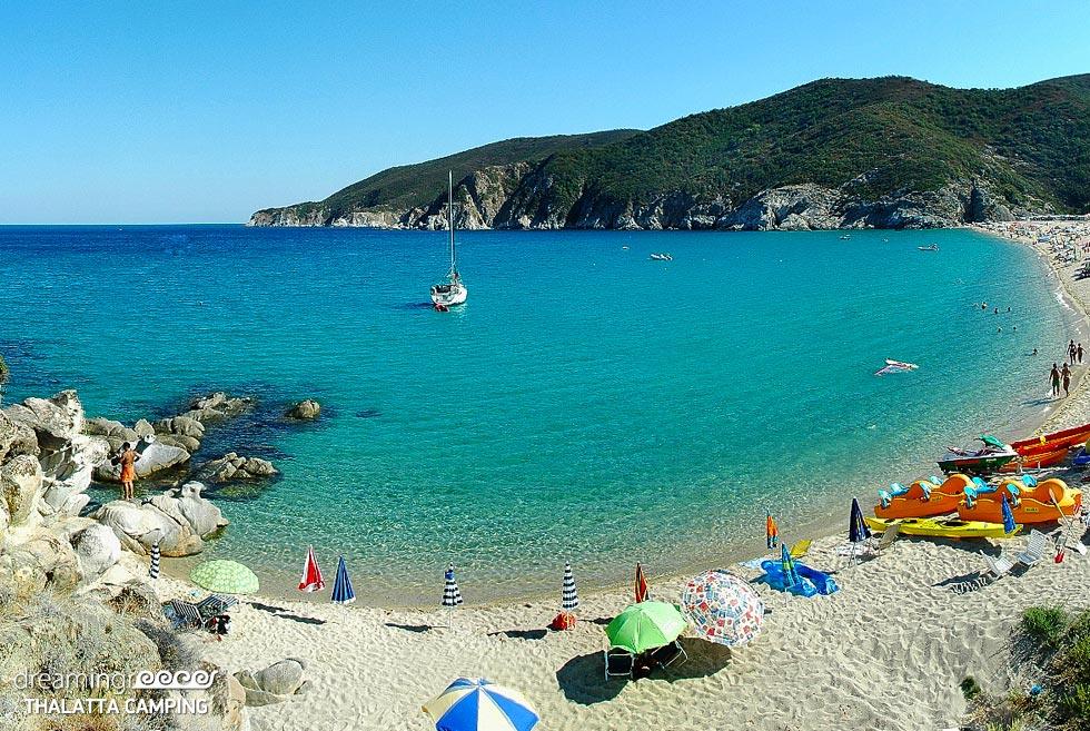 Thalatta Kalamitsi Village Camp. Halkidiki beach. Holidays in Greece.