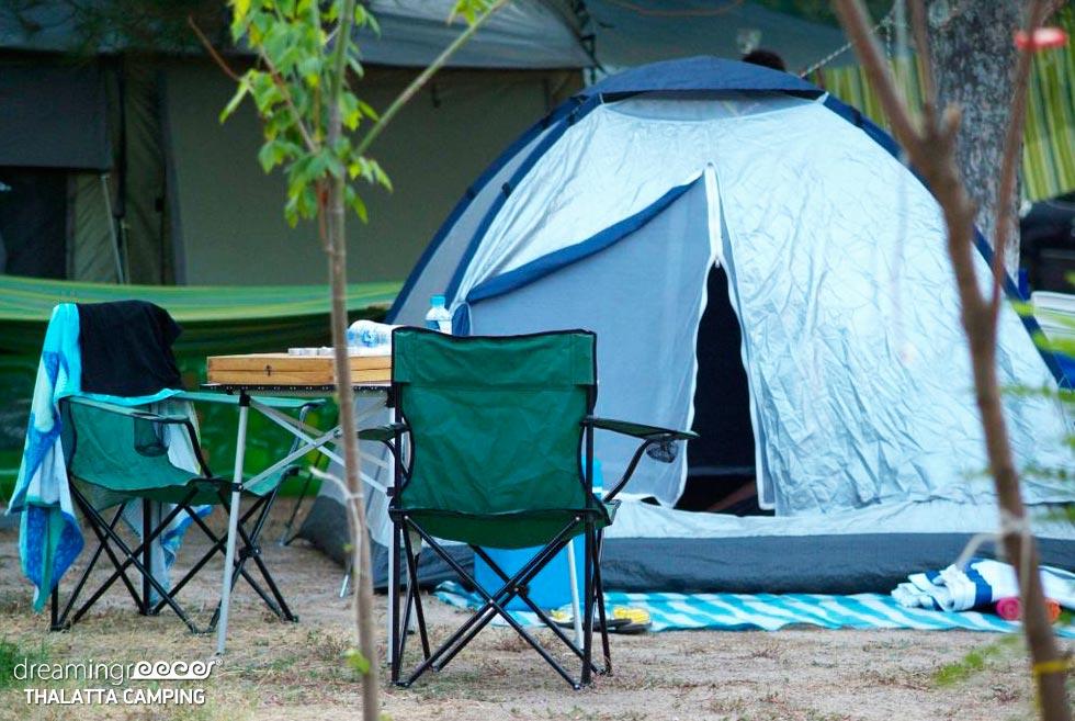 Thalatta Kalamitsi Camp. Camping in Greece. Vacations in Halkidiki.