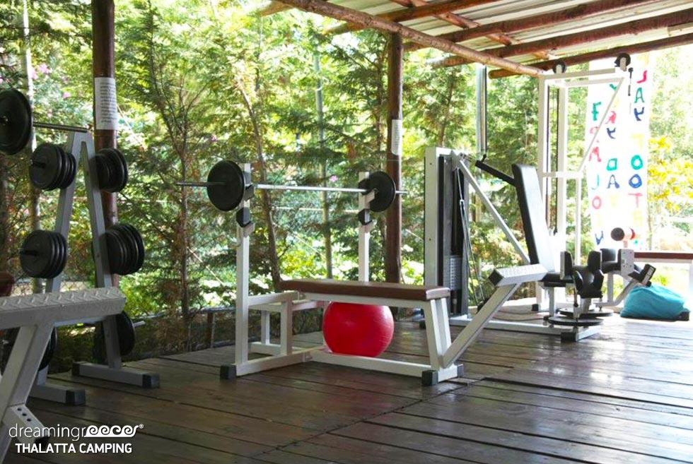 Gym Thalatta Kalamitsi Village Camp. Discover Greece.