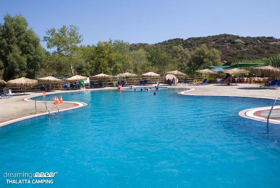 Pool Thalatta Kalamitsi Village Camp. Travel Guide of Halkidiki.
